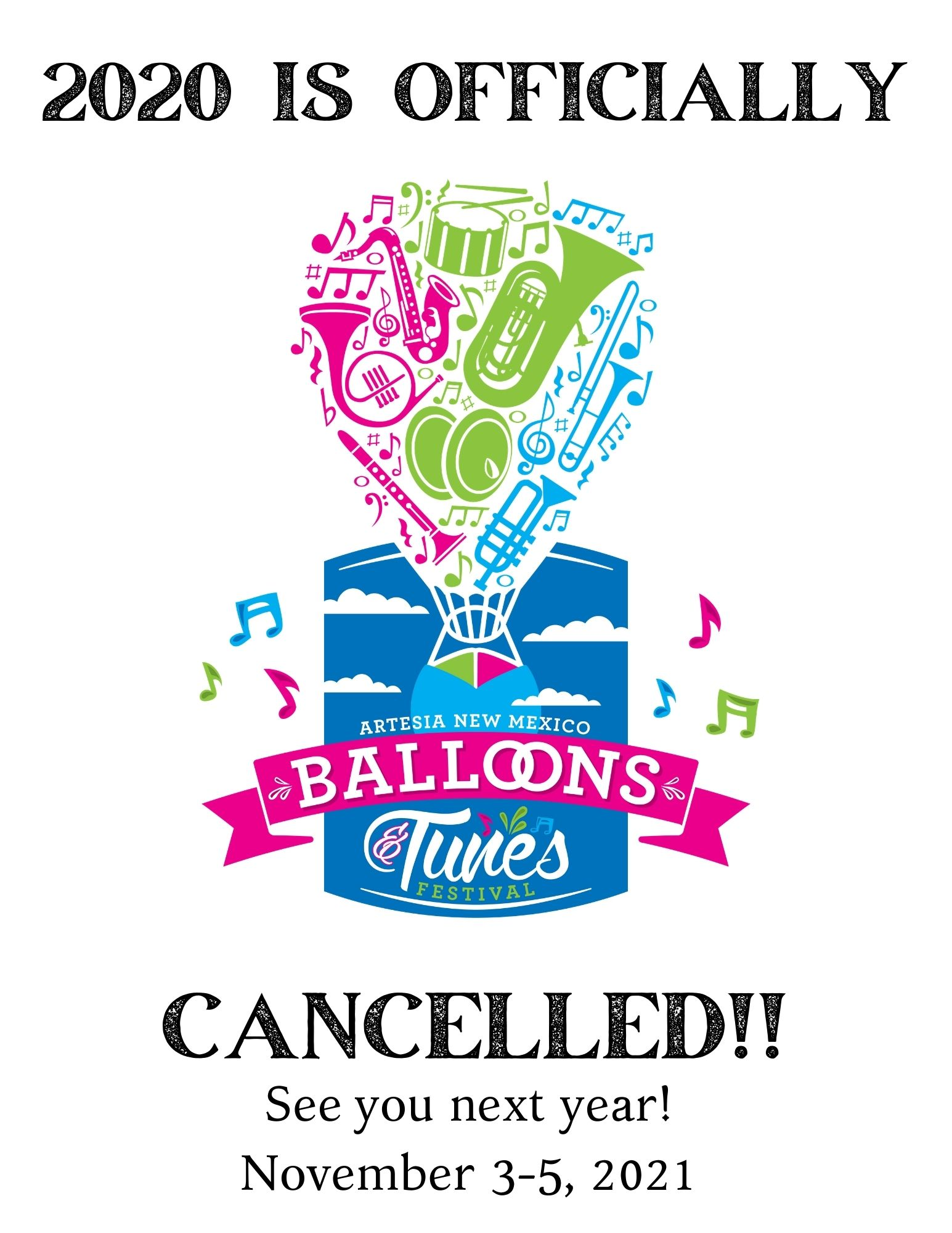 CANCELLED!!